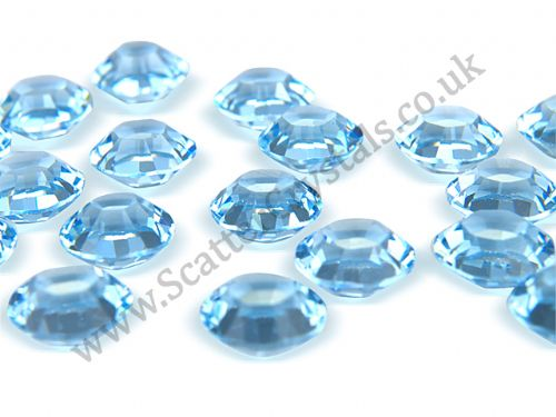 Pk 100 Swarovski Unfoiled Table Crystals, Style 1128, SS29 (6.2mm), Aquamarine
